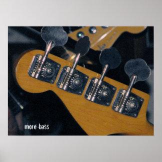 clavijas de adaptación de la guitarra baja póster