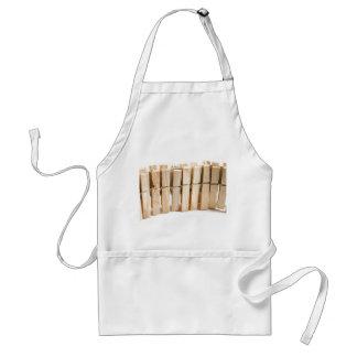 Clavijas de ropa de madera delantal