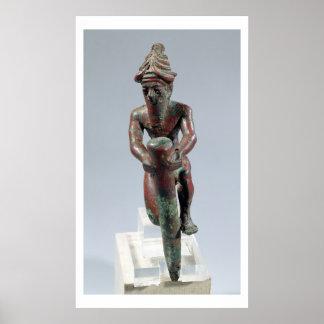 Clavo de la fundación de Gudea, príncipe de Lagash Poster