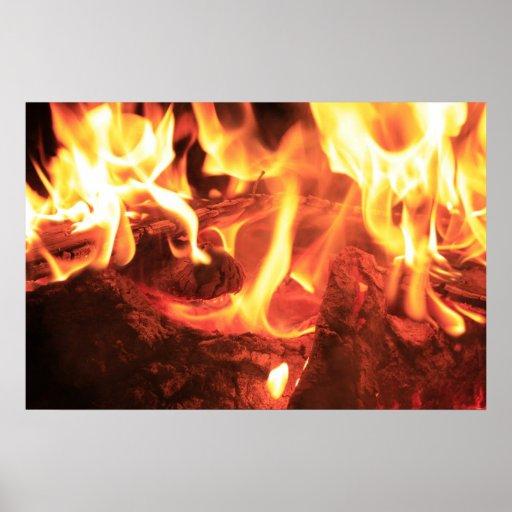 Clavo en el fuego impresiones