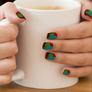 Clavos abstractos oscuros modernos de la moza arte para uñas
