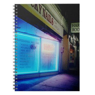 Clavos afortunados - azul fresco en la noche libretas espirales