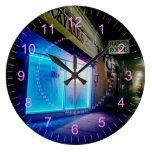 Clavos afortunados - azul fresco en la noche relojes de pared