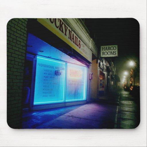 Clavos afortunados - azul fresco en la noche alfombrilla de ratón