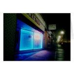 Clavos afortunados - azul fresco en la noche tarjeta pequeña