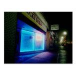 Clavos afortunados - azul fresco en la noche postal