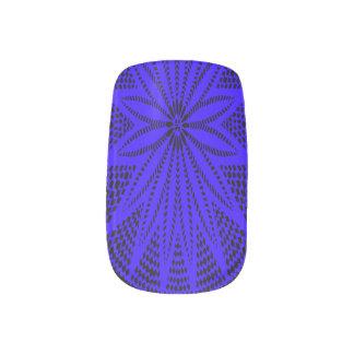 Clavos azules de la moza descarada de Wycinanki de Pegatina Para Manicura
