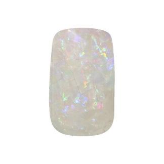 Clavos de la moza descarada de la opalescencia pegatina para uñas