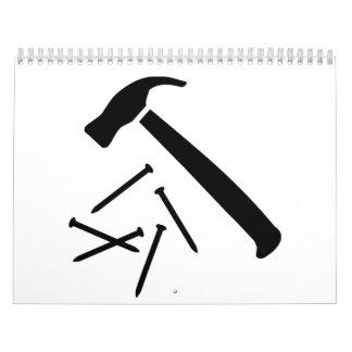 Clavos del martillo calendarios
