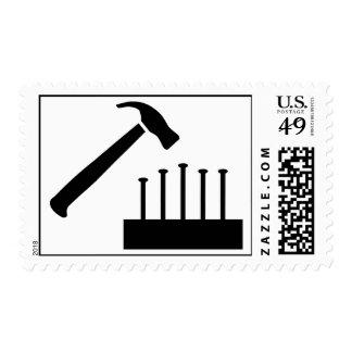 Clavos del martillo timbres postales