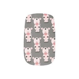 Clavos del modelo del cerdo pegatina para uñas