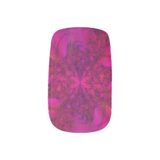 Clavos falsos rosados abstractos pegatina para uñas