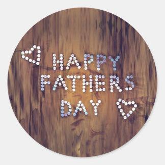 Clavos felices del día de padre en el gráfico de pegatina redonda