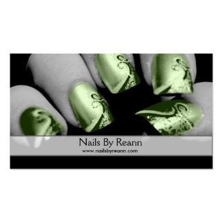 Clavos por Reann (clavos verdes) Tarjetas De Visita
