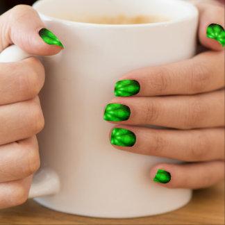 Clavos verdes de la moza descarada de la llamarada pegatina para manicura