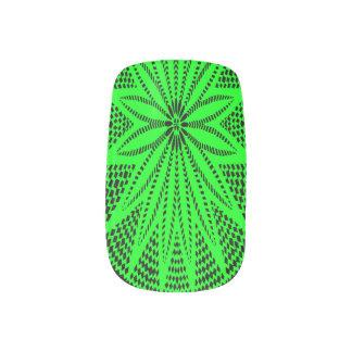 Clavos verdes de la moza descarada de Wycinanki de Pegatinas Para Manicura