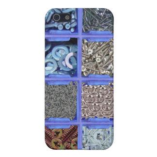 Clavos y caso del iphone del diseño de los tornill iPhone 5 funda