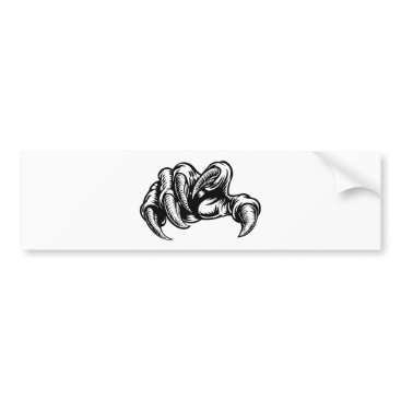 Claw Hand Monster Talons Bumper Sticker