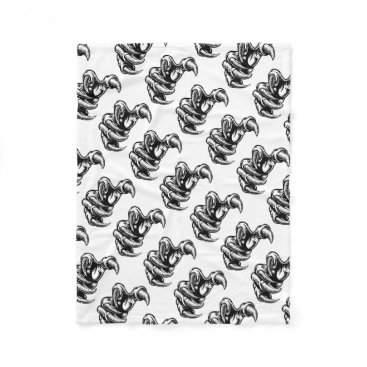 Claw Hand Monster Talons Fleece Blanket