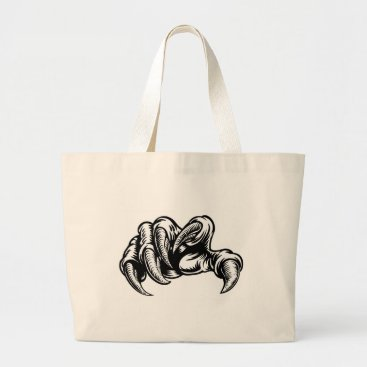 Claw Hand Monster Talons Large Tote Bag