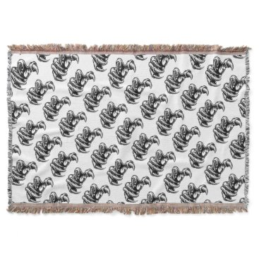 Claw Hand Monster Talons Throw Blanket