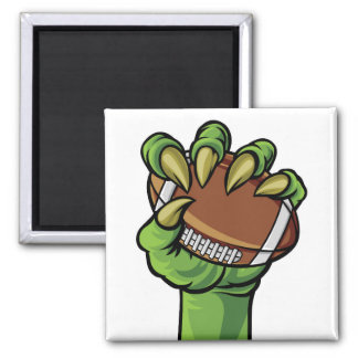 Claw Monster Hand Holding a Football Ball Magnet