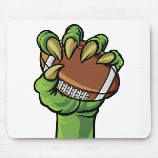 Claw Monster Hand Holding a Football Ball Mouse Pad