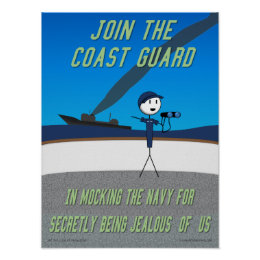 """Claw of Knowledge """"Join the Coast Guard"""" Poster"""