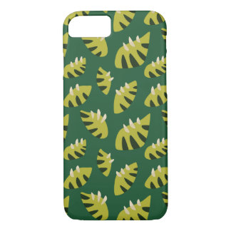 Clawed Abstract Green Leaf Pattern iPhone 7 Case