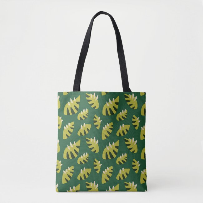Clawed Abstract Green Leaf Pattern