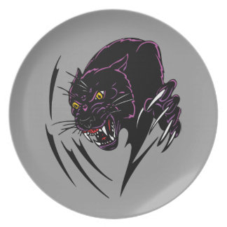 Clawing Panther Dinner Plate