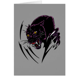 Clawing Panther Greeting Card