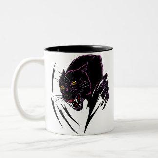 Clawing Panther Two-Tone Coffee Mug