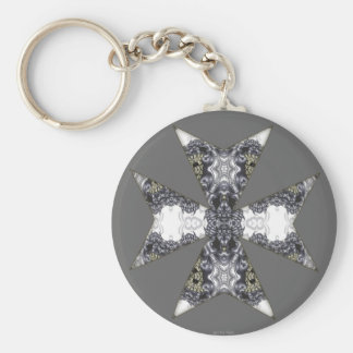 Claws and Fangs Cross Kaleidoscope Mandala Keychain