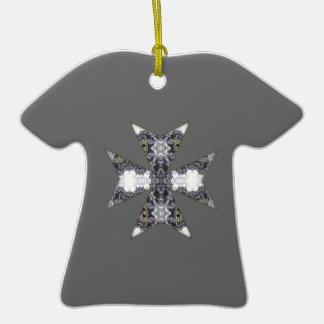 Claws and Fangs Cross Kaleidoscope Mandala Christmas Ornaments