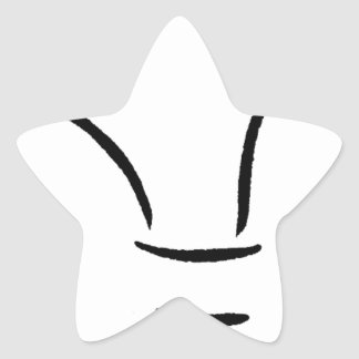 Claws on a paw star sticker