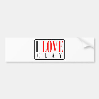 Clay, Alabama City Design Bumper Sticker