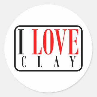 Clay, Alabama City Design Classic Round Sticker