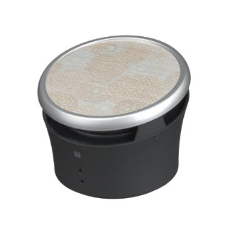 Clay and Tan Flower Burst Design Bluetooth Speaker