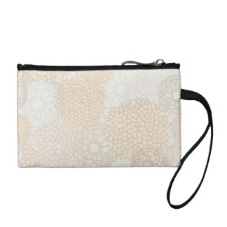 Clay and Tan Flower Burst Design Coin Purse