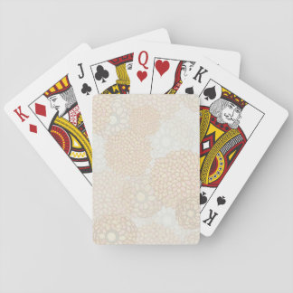Clay and Tan Flower Burst Design Playing Cards