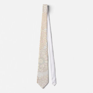 Clay and Tan Flower Burst Design Tie