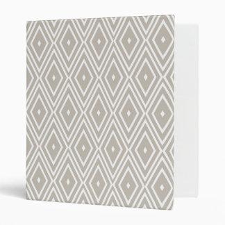 Clay and White Diamond Pattern Binders