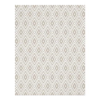 Clay and White Diamond Pattern Letterhead