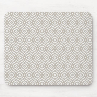 Clay and White Diamond Pattern Mouse Pad