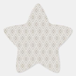 Clay and White Diamond Pattern Star Sticker