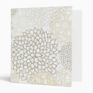 Clay and White Flower Burst Design Binder