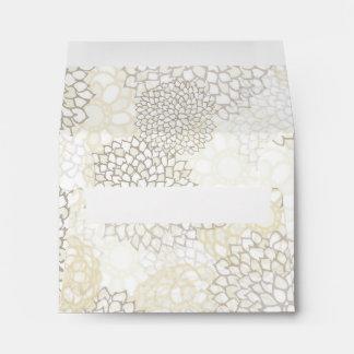 Clay and White Flower Burst Design Envelope