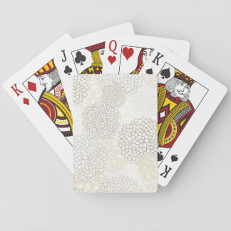 Clay and White Flower Burst Design Playing Cards