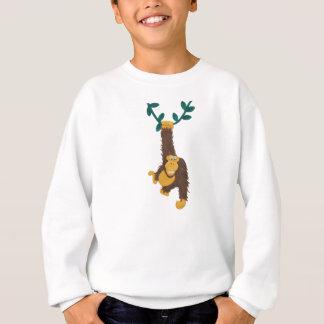 Clay-art funny grinning Gorilla in jungle Sweatshirt